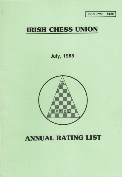 Front cover of 1998 rating list booklet